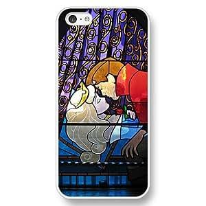 Disney Cartoon Movie Sleeping Beauty Aurora Hard Plastic Phone For Case HTC One M7 Cover - White