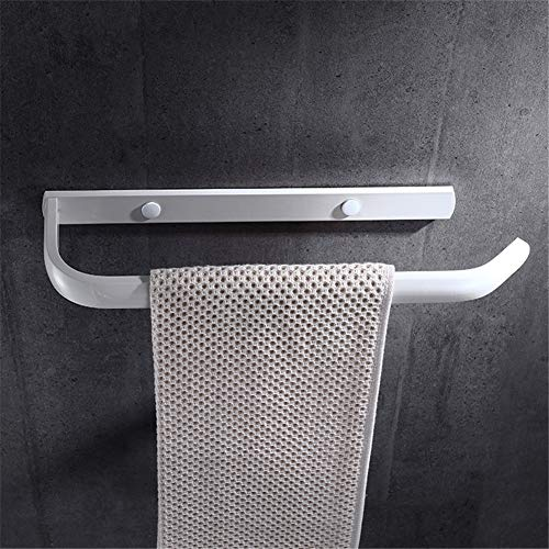 WUQING Drill Free White Towel Ring Bathroom Space Aluminum Towel Rack Self Adhesive Tower Hanger Wall Mounted Towel Holder