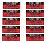 SECURITY STICKERS TAMPER-EVIDENT WARRANTY VOID RED AND BLACK DO NOT BREAK SEAL X 3000 LABELS