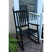 Oliver and Smith - Nashville Collection - Wooden Black Patio Porch Rocker- Rocking Chair - Made in USA - 24.5  W x 33  D x 46  H