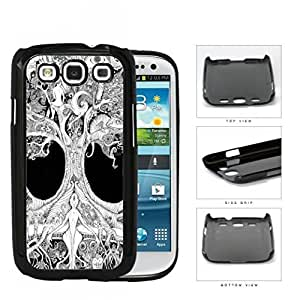 Ancient Tree Of Life Grayscale Hard Plastic Snap On Cell Phone Case Samsung Galaxy S3 SIII I9300