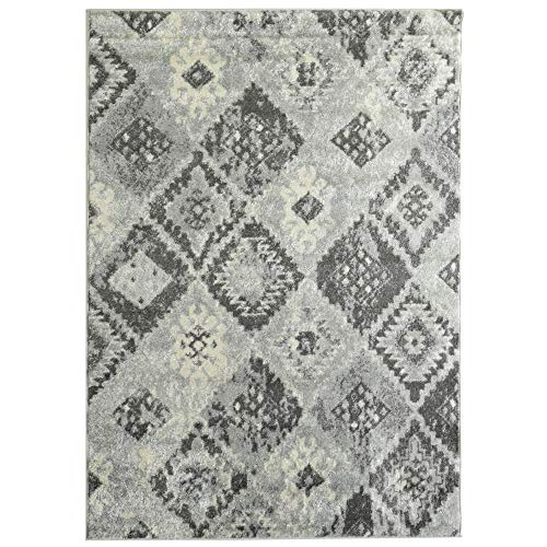iCustomRug Ankara Neutral Tone Collection, Light Weight Aztec Design Area -