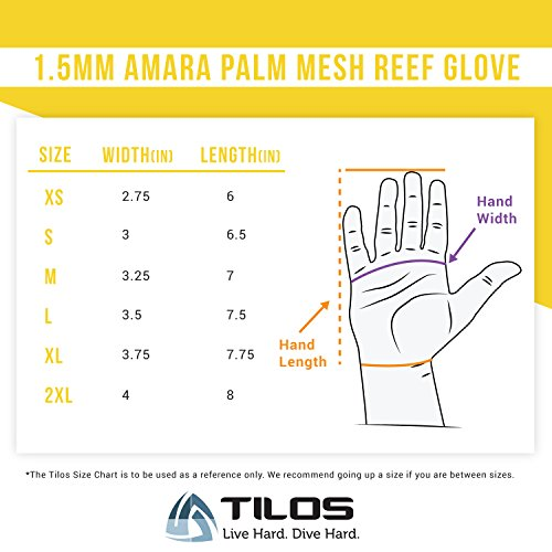 Tilos 1.5mm Amara Palm Mesh Tropical Gloves Black, M
