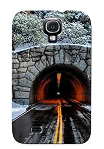 Ellent Design Tunnel Through The Mountain Phone Case For Galaxy S4 Premium Tpu Case For Thanksgiving Day's Gift