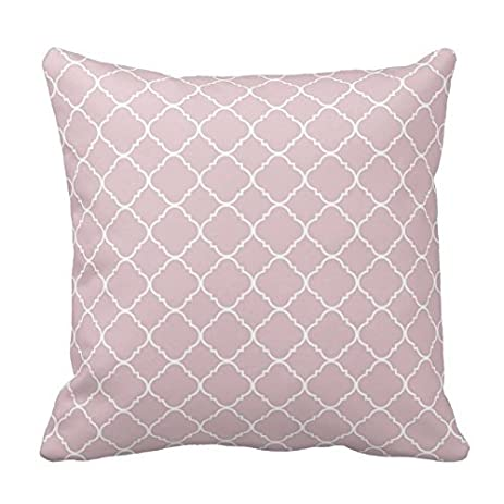 Chevron Pattern   Pale Pink And White Quatrefoil Pattern Monogram Pillows  Classic Stripes Pattern For Decoration