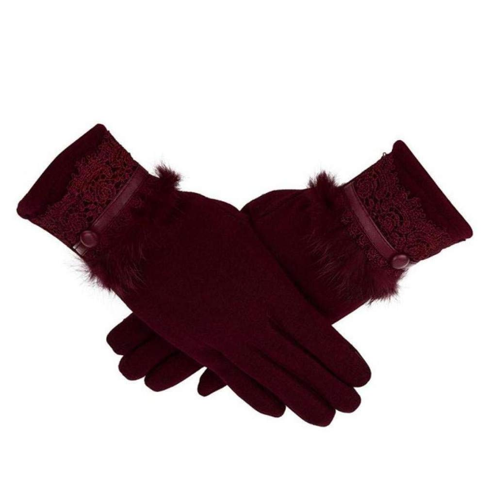 Lerdon Driving Winter Gloves Gloves Warm Warm Female Cashmere Keep Women Touch Glove Finger Screen Full