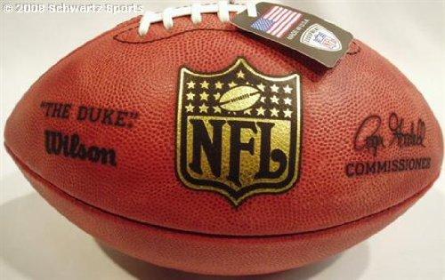 NFL Wilson Authentic Duke Leather Game Football by Sports Memorabilia LLC