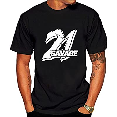 Men's 21 Savage Logo Art Tee Shirt Black