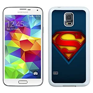 High Quality Samsung Galaxy S5 I9500 Case ,Fabric Superman Logo White Samsung Galaxy S5 Cover Unique And Fashion Designed Phone Case