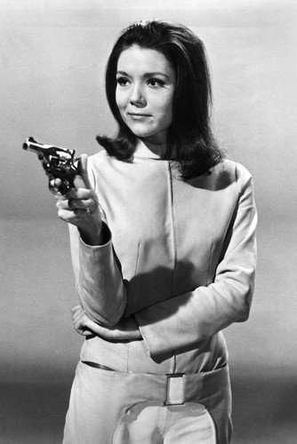 The Avengers Diana Rigg B&W Photo Poster