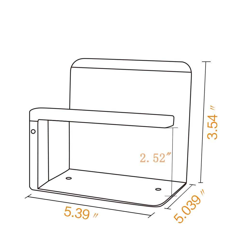 CRW Toilet Paper Holder Bathroom Tissue Roll Holder with Mobile Phone Storage Shelf SUS 304 Stainless Steel Brushed Wall Mount