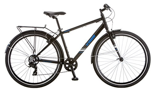 Schwinn Continental Commuter Men's 7 Speed 700C Wheel Bicycle, Black, 18″/Medium Frame Size For Sale