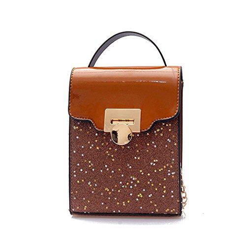 Mode Carré Sac Nouvelle À Messenger Brown Portable Petit Bandoulière Meaeo Sac Bag Noir qIwOC8xWZ