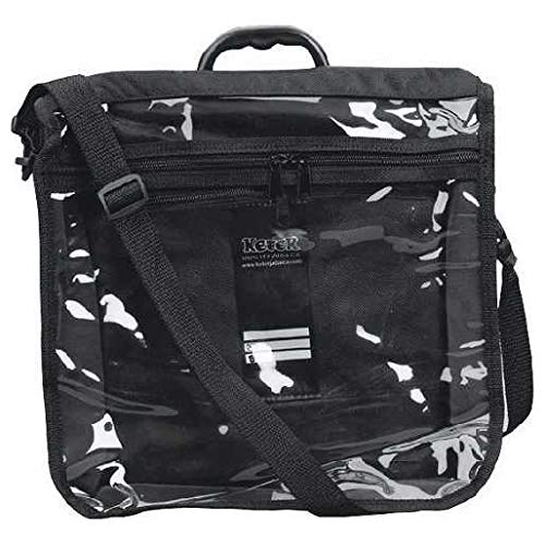 - Tefillin Tote Bag Rain Proof Black with Carry Handle Clear Front in Size Large 11