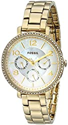 Fossil Women's ES3756 Jacqueline Gold-Tone Stainless Steel Watch