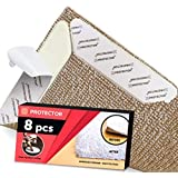 X-Protector Rug Grippers New 8 pcs Anti Curling Rug Gripper – Rug Pad. Keeps Your Rug in Place & Corners Flat. Carpet Gripper Renewable Gripper Tape – Rug Tape. Original Brand - Avoid The Copies!