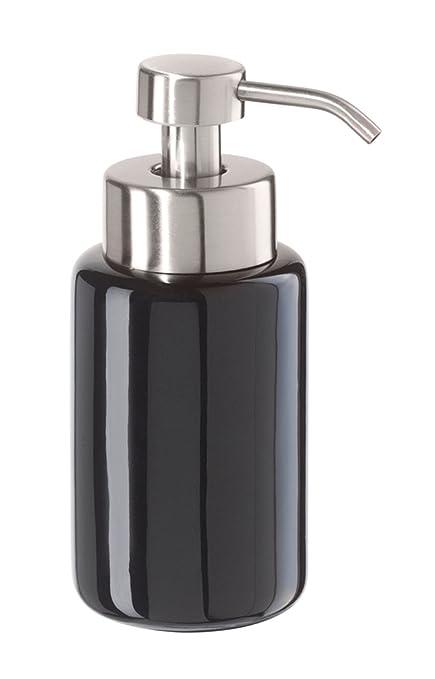 Oggi negro caja redonda de cerámica jabón líquido dispensador de hacer espuma