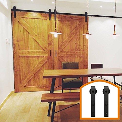 HomeDeco Hardware 10 FT Antique Style Rolling Sliding Barn Door Hardware Kit Use For Sale Building