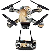 Skin for DJI Spark Mini Drone Combo - Kittens| MightySkins Protective, Durable, and Unique Vinyl Decal wrap cover | Easy To Apply, Remove, and Change Styles | Made in the USA