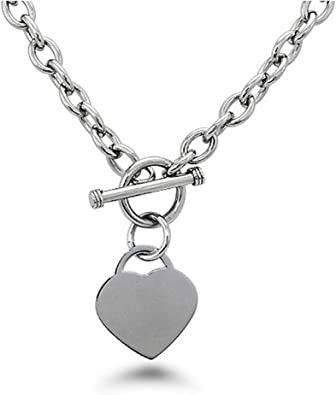 Toggle chain necklace Toggle clasp pendant  necklace