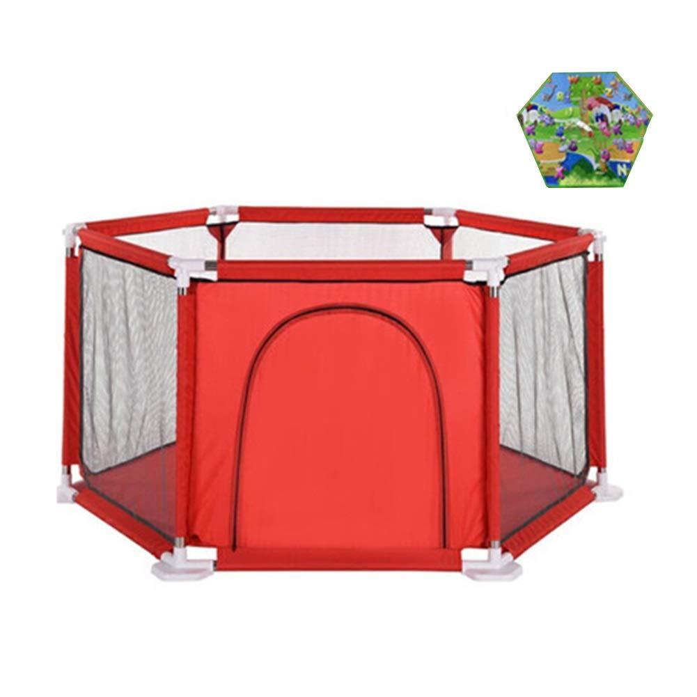 最新発見 クロールマット、男の子と女の子のための屋内安全遊戯場ヤード - B07QLYZD3Y 赤い塀が付いている携帯用ベビープレイサーン B07QLYZD3Y, フォーマルショップ 礼装倶楽部:4cdea1df --- a0267596.xsph.ru