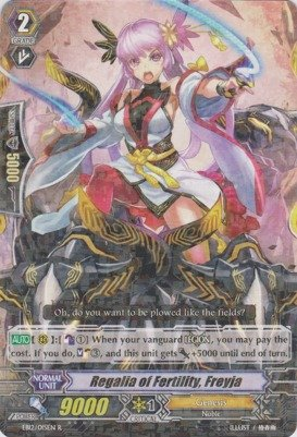 Cardfight!! Vanguard TCG - Regalia of Fertility, Freyja (EB12/015EN) - Extra Booster Pack 12: Waltz of the Goddess