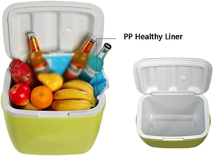 almuerzo 2 paquetes de hielo caja refrigerante, verde y gris ADRIATIC comida aislada playa p/ícnic Nevera de 24 litros para camping