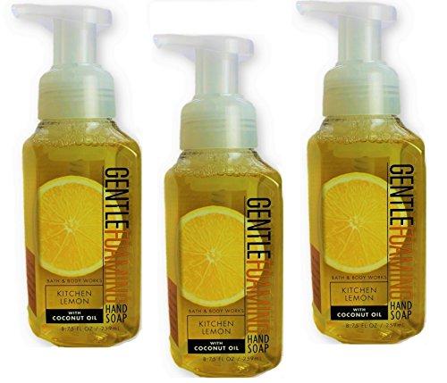 Bath & Body Works Gentle Foaming Hand Soap Kitchen Lemon (3-Pack)