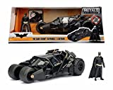 NEW 1:24 W/B JADA TOYS CLASSIS TV COLLECTION - BLACK The Dark Knight Batmobile Car Tumbler With Batman Figure Diecast Model Car By Jada Toys