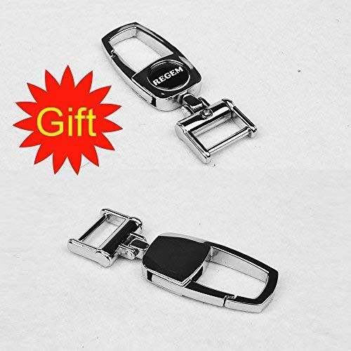 Black Leather Smart Key Fob Cover Case Full Protector Remote Keyless Entry for Audi 2016 A4 TT TTS 2017 Q7 3 Buttons Key REGEM