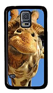 cool Samsung S5 cover Giraffe Funny Animals PC Black Custom Samsung Galaxy S5 Case Cover