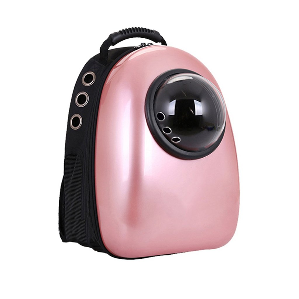 Portable Rose Gold Pet Backpack impermeabile Capsule Astronaut Pet Dog Puppy Carrier Bubble Bag Travel Breakable Outdoor impermeabile Backpack 32x42x29cm