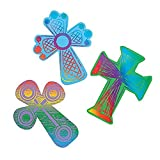 Colored Cross Magic Scratch ~ 24 crosses / 12 scratching tools ~ 4