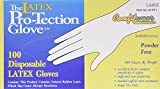 #5: Disposable Latex Gloves, Powder Free Size Large, 100 gloves per box