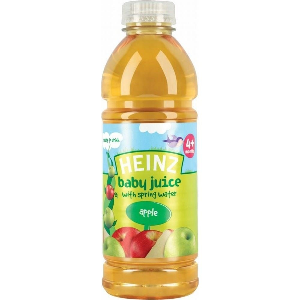Heinz Baby Juice with Spring Water 4mth+ Apple (750ml) Grocery