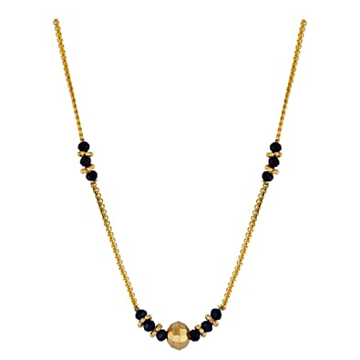 Buy Whp Jewellers 22kt Yellow Gold Mangalsutra For Women