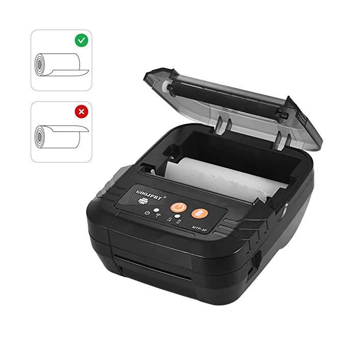 aibecy portátil Mini Impresora de Recibos Calor BT 80 mm BT ...