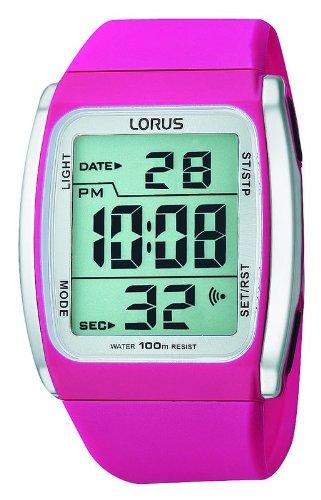 Lorus watches reloj para Unisex Digital de Cuarzo con brazalete de Goma R2309HX9: Amazon.es: Relojes