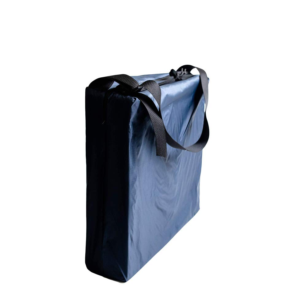 Hermell Products Inc. Hip Cushion with Navy Rip-Stop Ties Wheelchair, Removable Cover, 4-Inch by Hermell Products Inc.