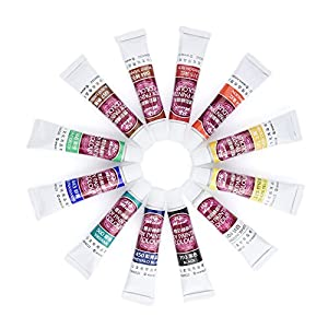 Pretty See Face Painting Kit Art Make-up Set Body Paint Kit with Rich Pigment and 2 Free Paintbrushes