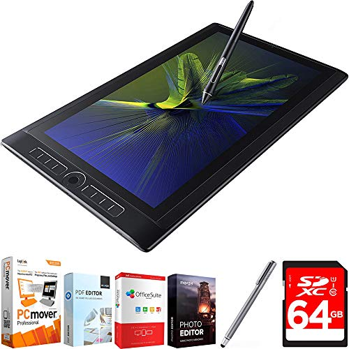 "Wacom MobileStudio Pro 16"" Tablet i5 256GB SSD, Windows 10, NVIDIA M600M (DTH-W1620M) with Corel Complete PC Office Suite 5, Bamboo Solo Stylus for Tablets and Smartphones & 64GB Memory Card"