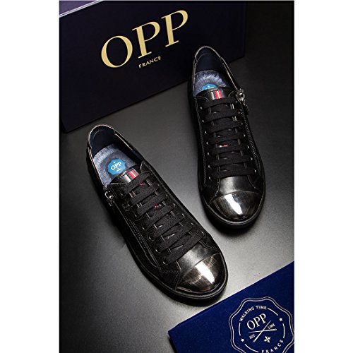 Opp Mænds Lace-up Casual Sko I Læder 1819-1Sort DQ6XqF