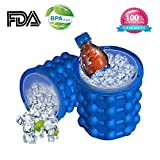 Ice Cube Maker Genie, Ice Genie Kitchen Tools Revolutionary Space Saving Ice Ball Maker Bucket Party Drink Tub Silicone Trays Mold Kitchen Tools