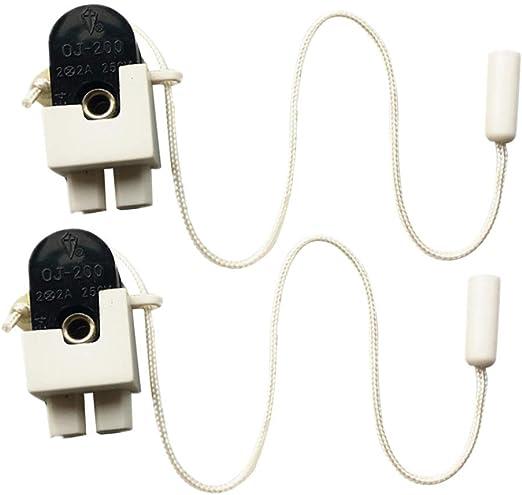 Mobestech 2pcs luces interruptor de cable de tracción cadena de ...