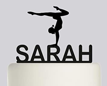d2fea8cd84b41 Rustic Birthday Cake Topper Gymnast Gymnastics YOUR NAME Cake Topper ...