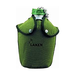 Laken Aluminum Canteen Water Bottle with Shoulder Strap, 44 Oz, Africa