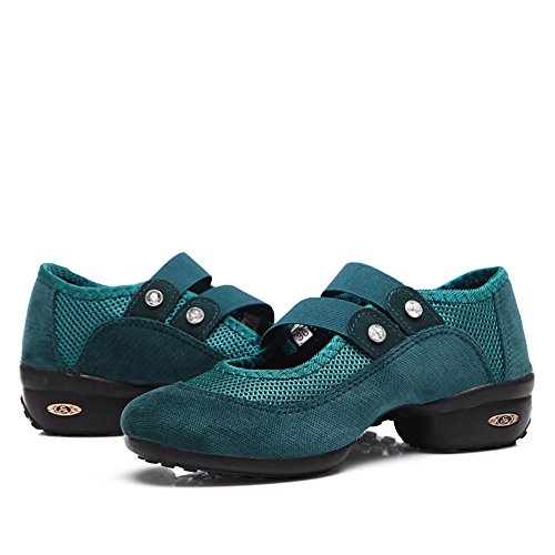 On Sneaker Dance Women's Green Slip Ballroom Yuanli RZ4qv