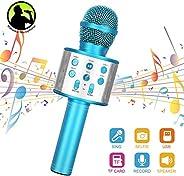 Wireless Bluetooth Karaoke Microphone Linkax Karaoke Machine Handheld Microphone Kids Portable karaoke Home KT