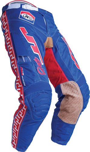JT Racing USA Classick MX Pants (Blue/Red, Size 28) from JT Racing USA