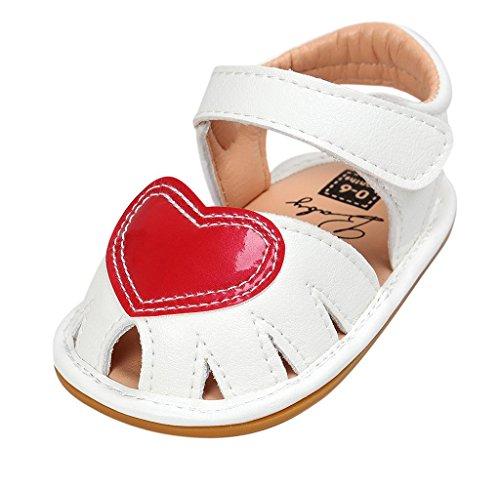 Covermason Sandalen Neugeboren Baby Schuhe Kleinkindschuhe Krippeschuhe Weiß